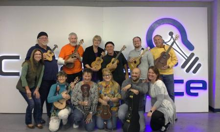 The Allegheny Ukes perform 'This Land' by Woody Gurhrie